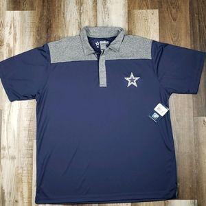 NWT Official Dallas Cowboys Blue/Gray Polo Sz XL